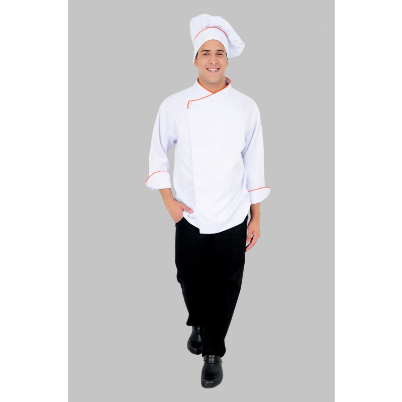 Dolma para Chef de cozinha. Dolma Manga Longa Branco 2 botoes ... b6f274a593c
