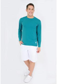 Camisa UV Manga Longa Verde Escuro