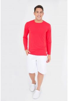 Camisa UV Manga Longa Vermelha