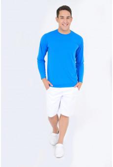 Camisa UV Manga Longa Azul Royal