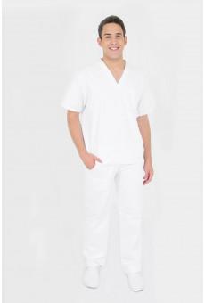 Camisa Decote V Unissex Branca