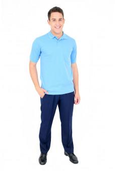 Camisa Polo Masculina Azul Índigo