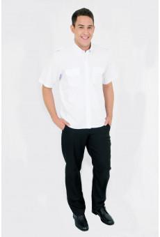 Camisa Manga Curta Com Pala e Platina