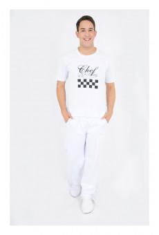 Camisa Malha Unissex  Branca Chef