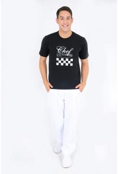 Camisa Malha Unissex Preta Chef