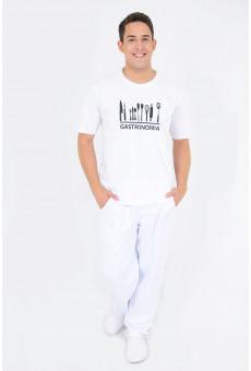 Camisa Malha Unissex Branca Gastronomia