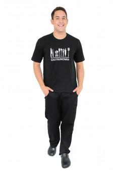 Camisa Malha Unissex Preta Gastronomia
