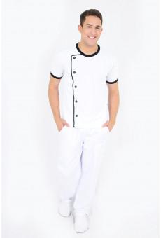 Camisa Malha Unissex Modelo Dólmã Branca