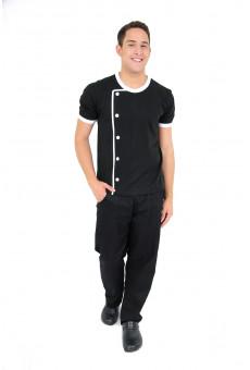 Camisa Malha Unissex Modelo Dólmã Preta