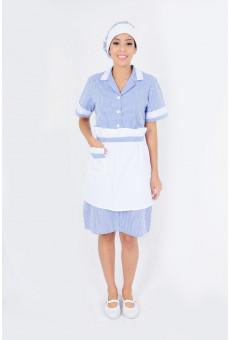 Vestido Xadrez Azul Royal