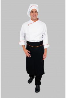 Kit UniFG Pós, Dólmã Masculina, Calça, Avental e Chapéu Chef