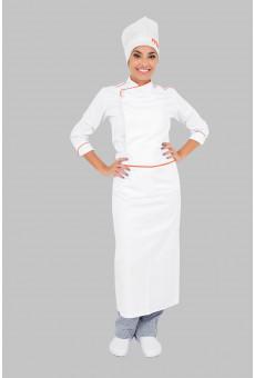 Kit Dolma, Calca, Avental Chapeu Chef Descatavel