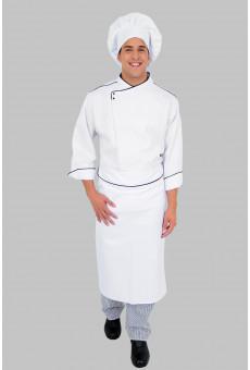 Kit Uninassau PE, Dólmã Masculina, Calça, Avental e Chapéu Chef