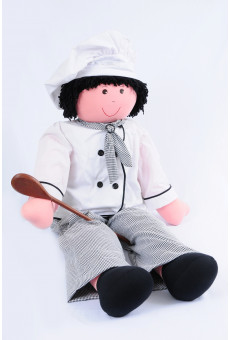 Boneco Mini Chef Masculino