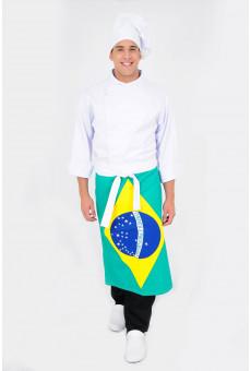 Avental de Cintura Estampa Brasil