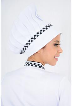 Chapéu Chef Detalhe Xadrez