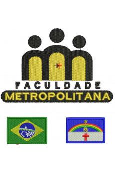 Kit Bordado Brasao, Bandeira Brasil e Estado