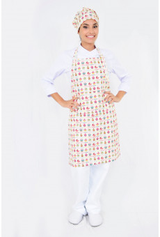 Conjunto Avental Fivela Bolso Chapeu Chef