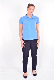 Blusa Polo Feminina Azul Índigo