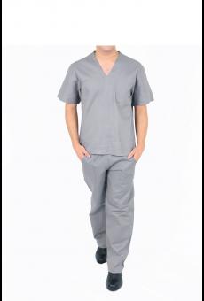 Pijama Cirúrgico Unissex Cinza