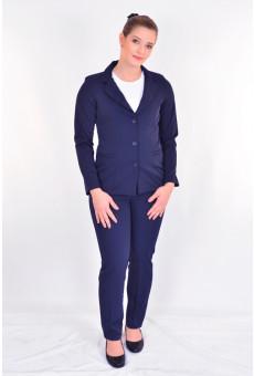 Conjunto Feminino Social Spencer e Calça  Azul Náutico