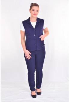 Conjunto Feminino Social Blazer e Calça Azul Náutico