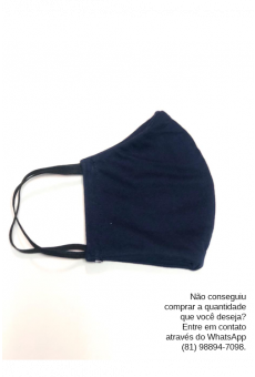 Máscara Malha Marinho
