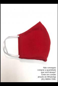 Máscara Malha Vermelha